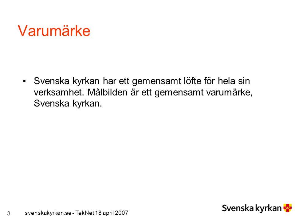 Varumärke Svenska kyrkan har ett gemensamt löfte för hela sin verksamhet. Målbilden är ett gemensamt varumärke, Svenska kyrkan.