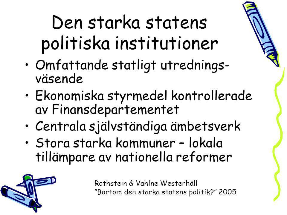 Den starka statens politiska institutioner