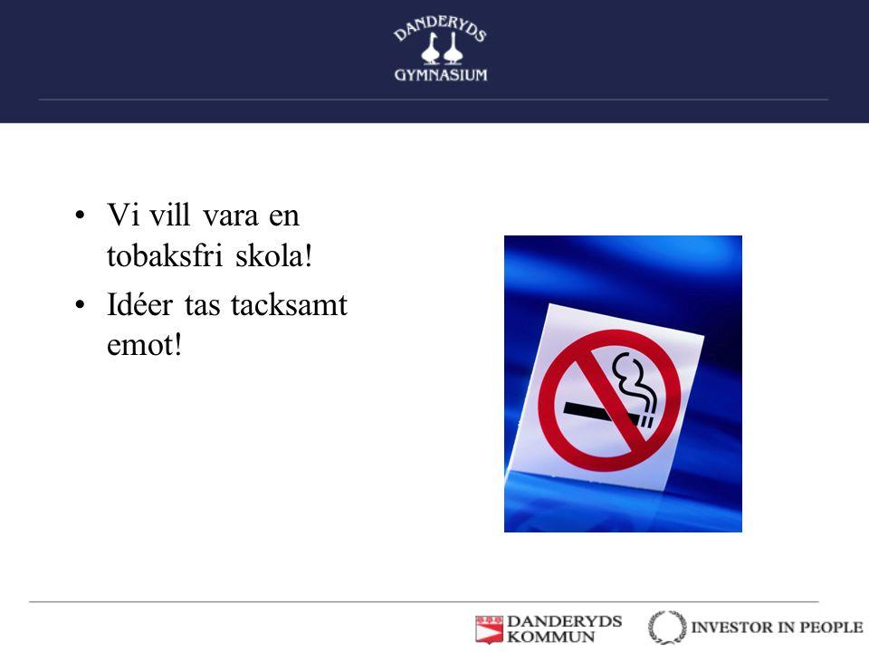 Vi vill vara en tobaksfri skola!
