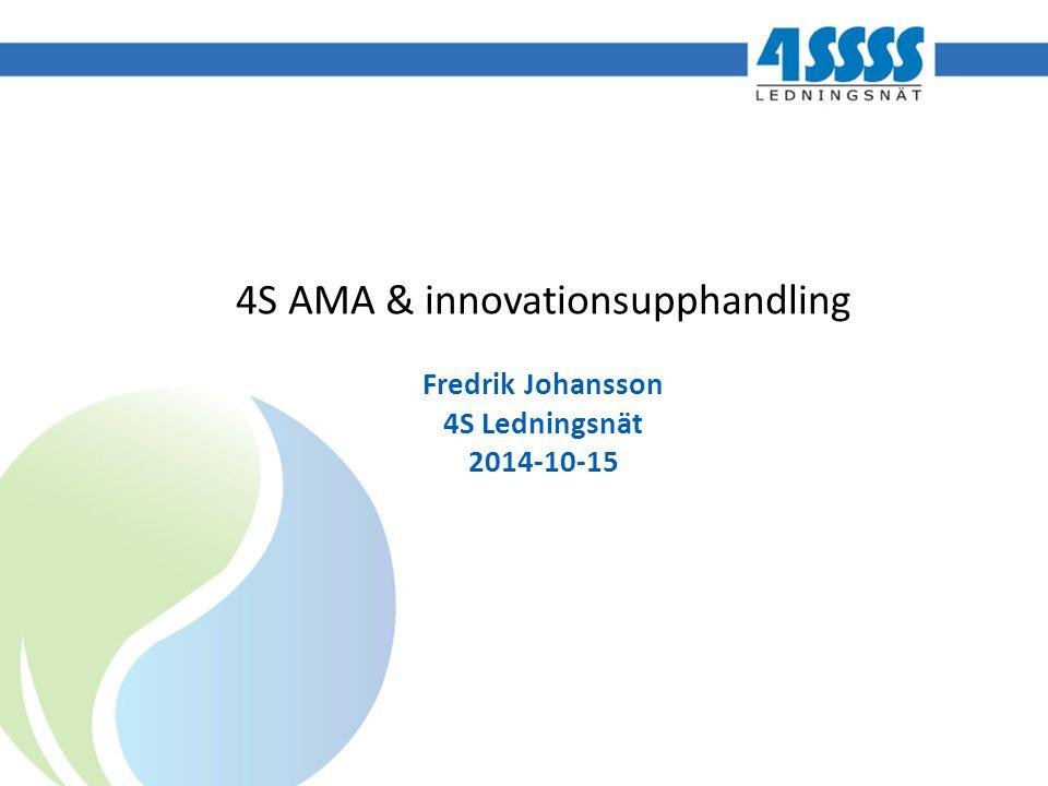 4S AMA & innovationsupphandling