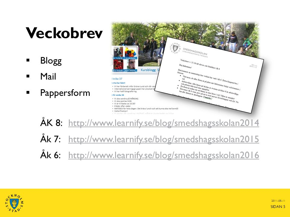 Veckobrev Blogg Mail Pappersform