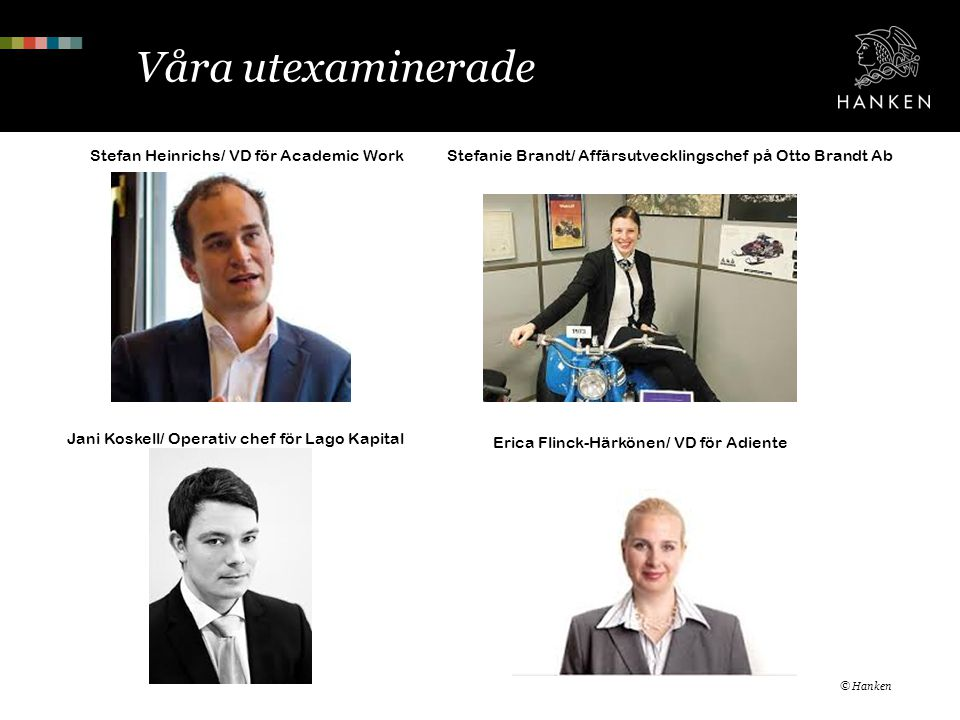 Våra utexaminerade Stefan Heinrichs/ VD för Academic Work