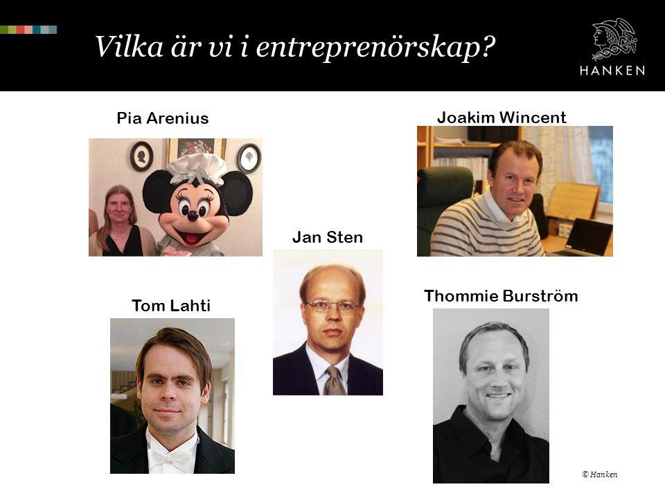 Vilka är vi i entreprenörskap
