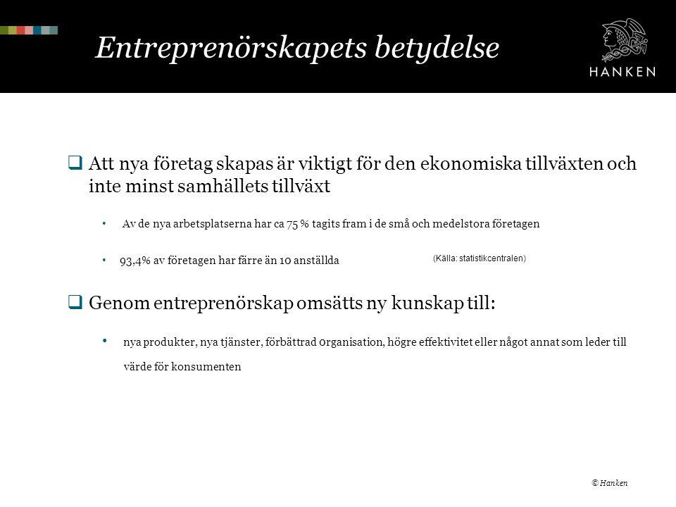 Entreprenörskapets betydelse