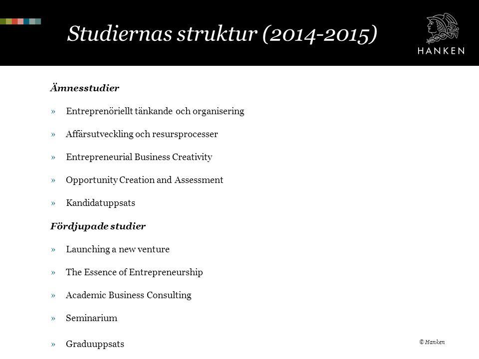Studiernas struktur (2014-2015)