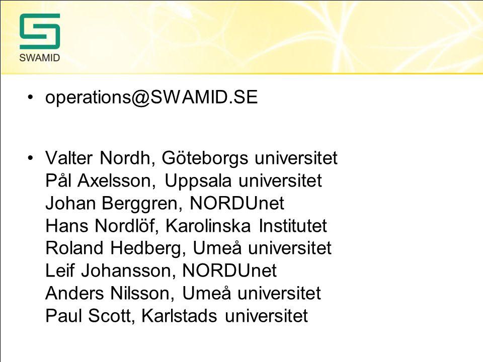 operations@SWAMID.SE