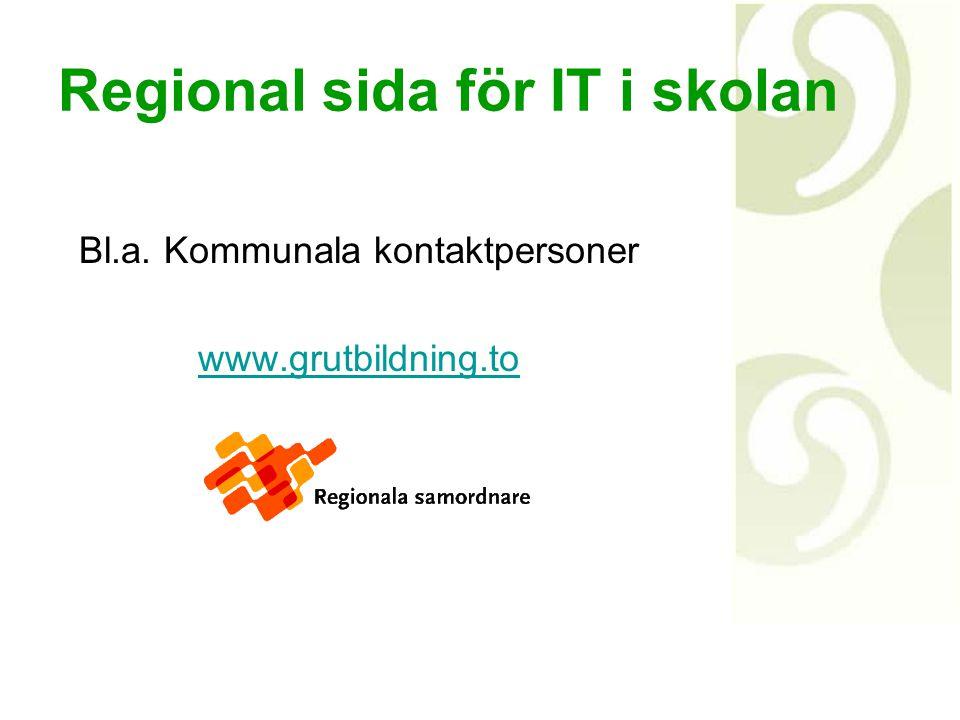 Regional sida för IT i skolan