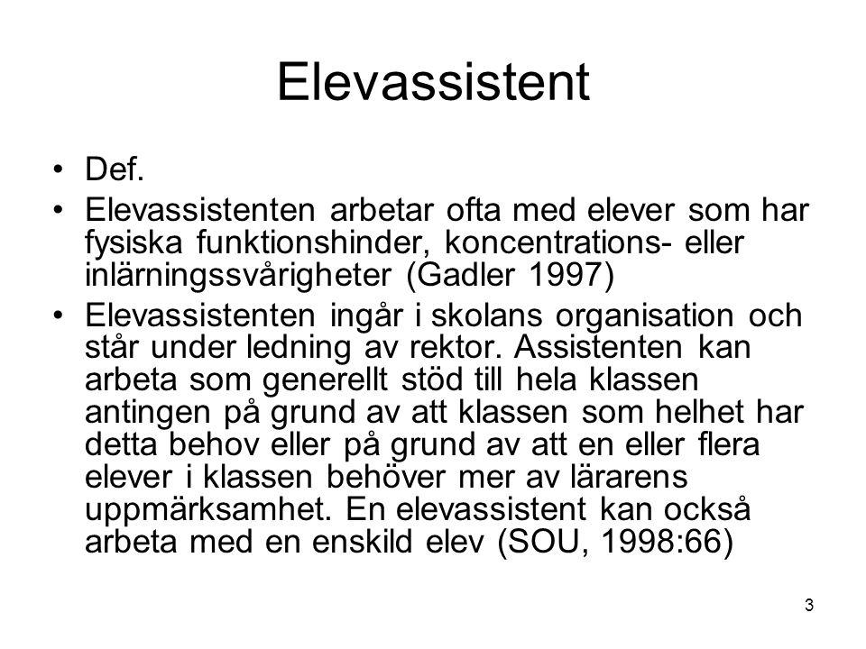 Elevassistent Def.