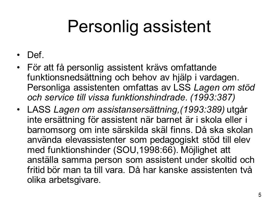 Personlig assistent Def.