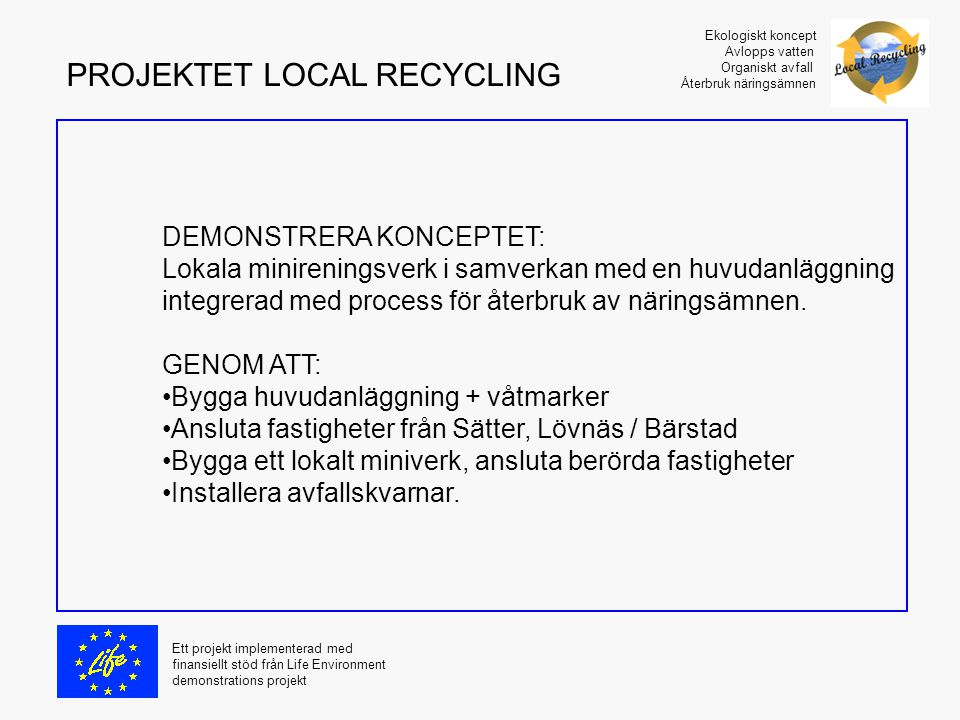PROJEKTET LOCAL RECYCLING