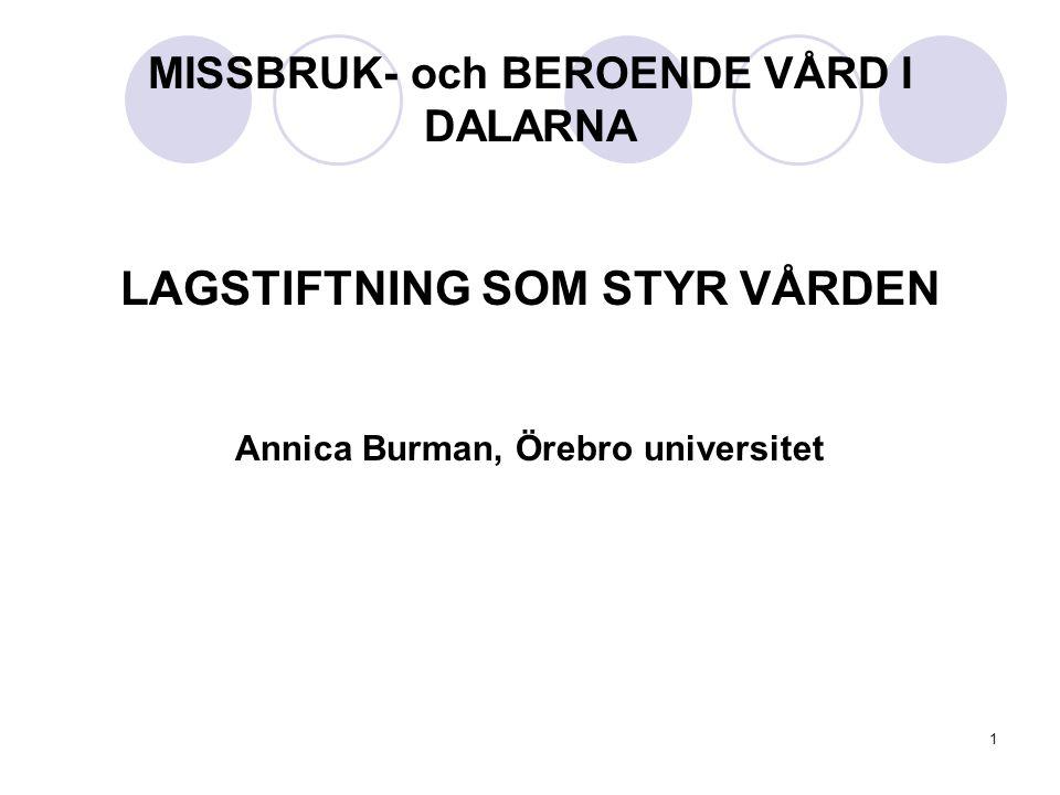 MISSBRUK- och BEROENDE VÅRD I DALARNA