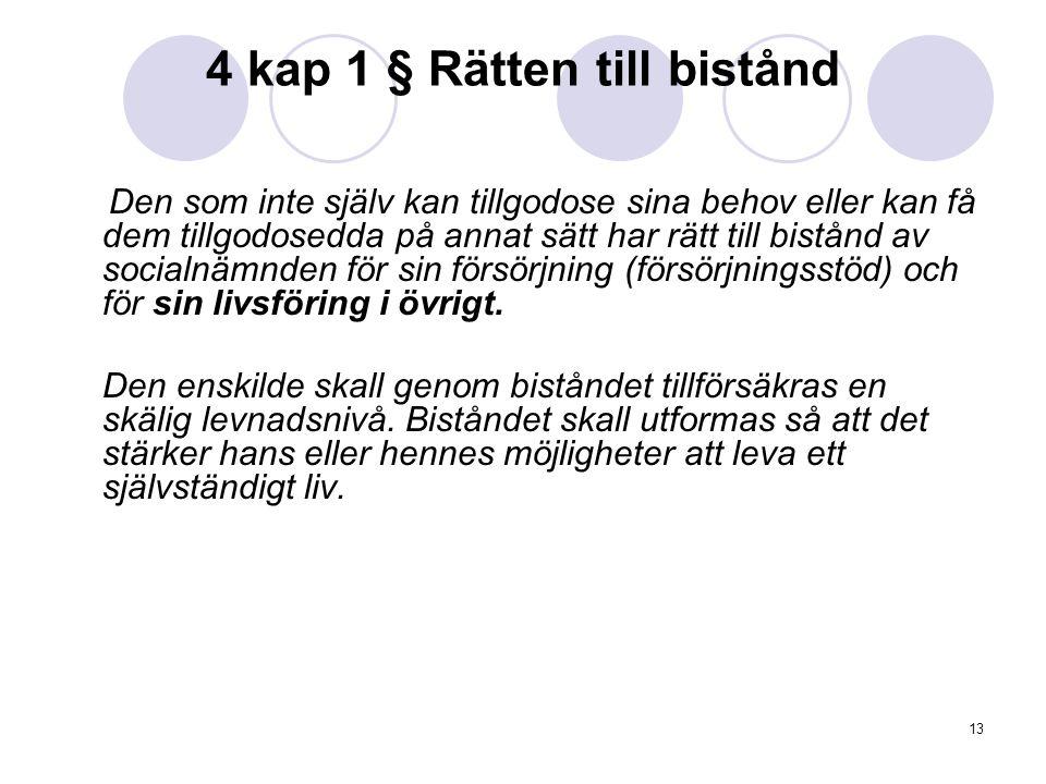 4 kap 1 § Rätten till bistånd