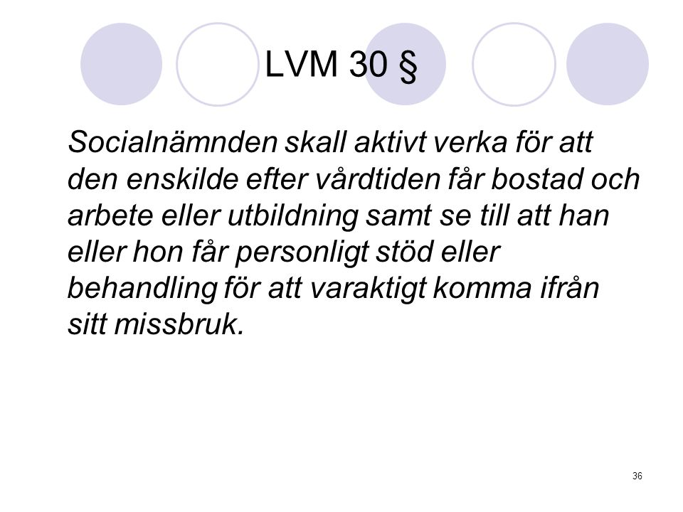LVM 30 §