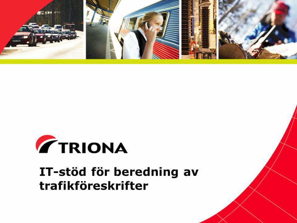 IT-stöd för beredning av trafikföreskrifter