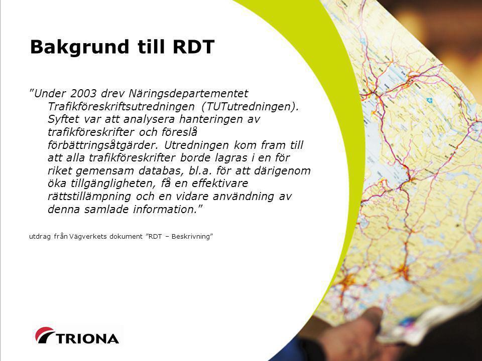 Bakgrund till RDT
