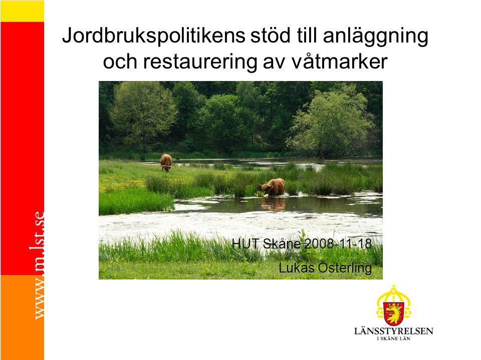 Jordbrukspolitikens stöd till anläggning och restaurering av våtmarker