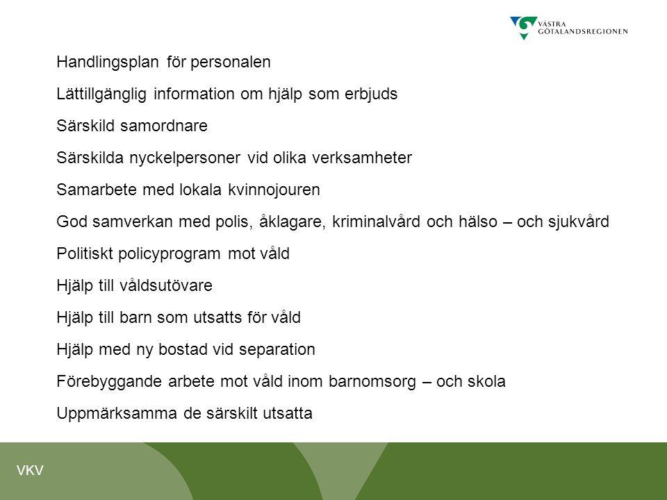 Handlingsplan för personalen