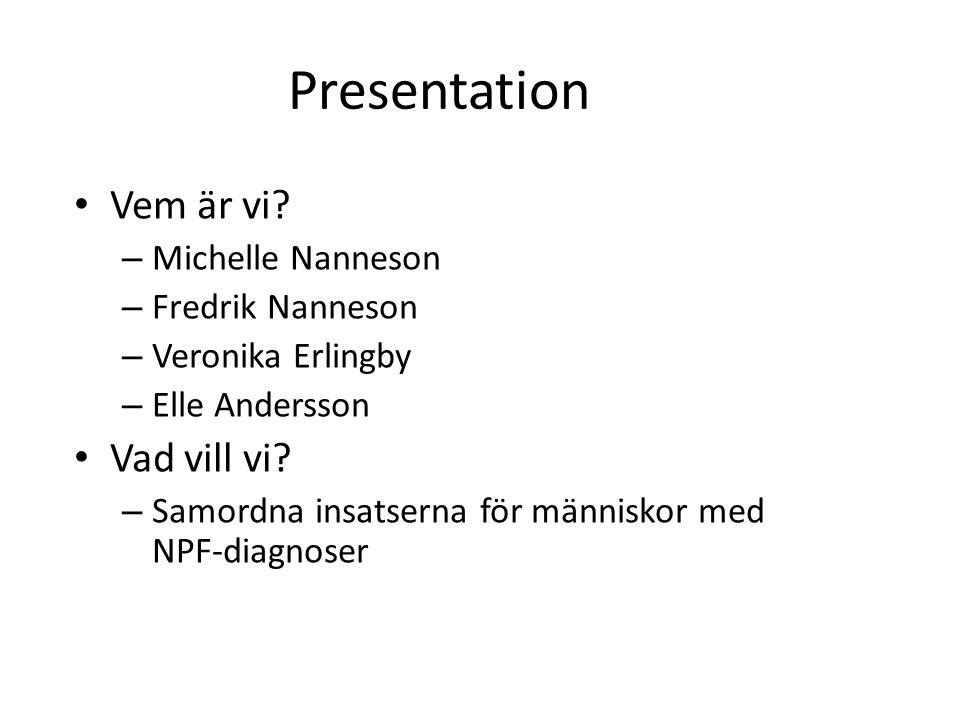 Presentation Vem är vi Vad vill vi Michelle Nanneson