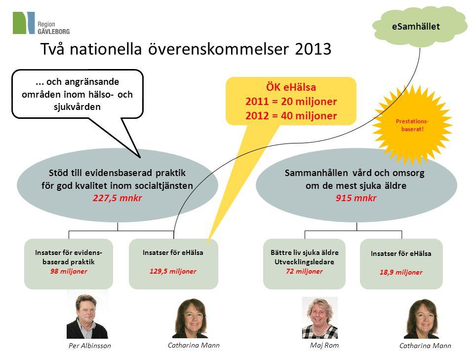 Två nationella överenskommelser 2013