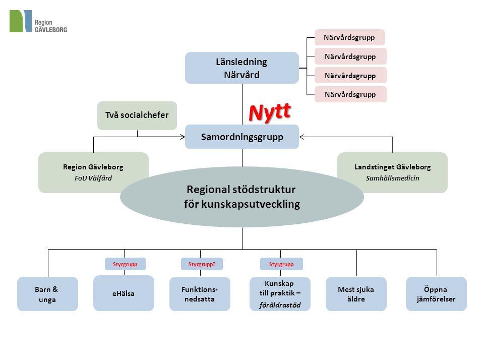 Landstinget Gävleborg Regional stödstruktur för kunskapsutveckling