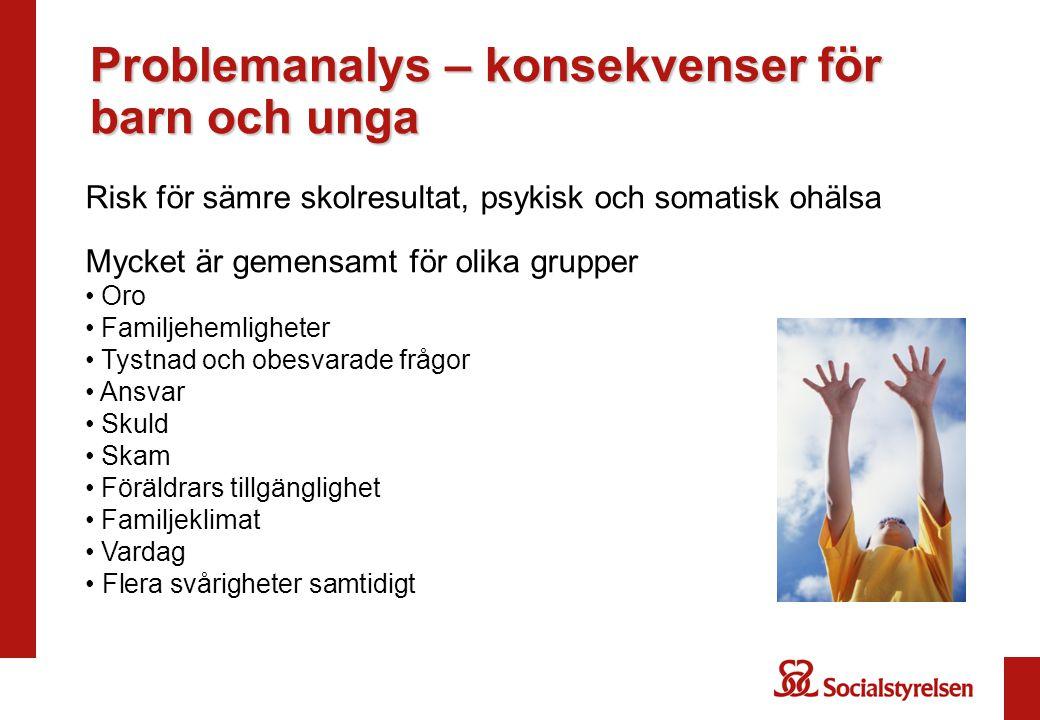 Problemanalys – konsekvenser för barn och unga