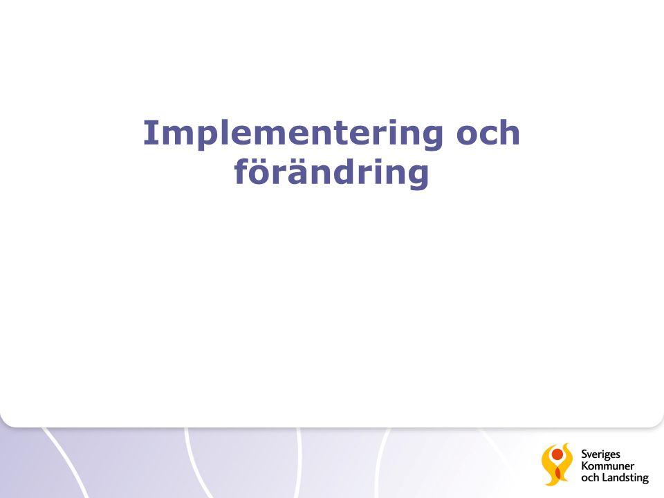Implementering och förändring