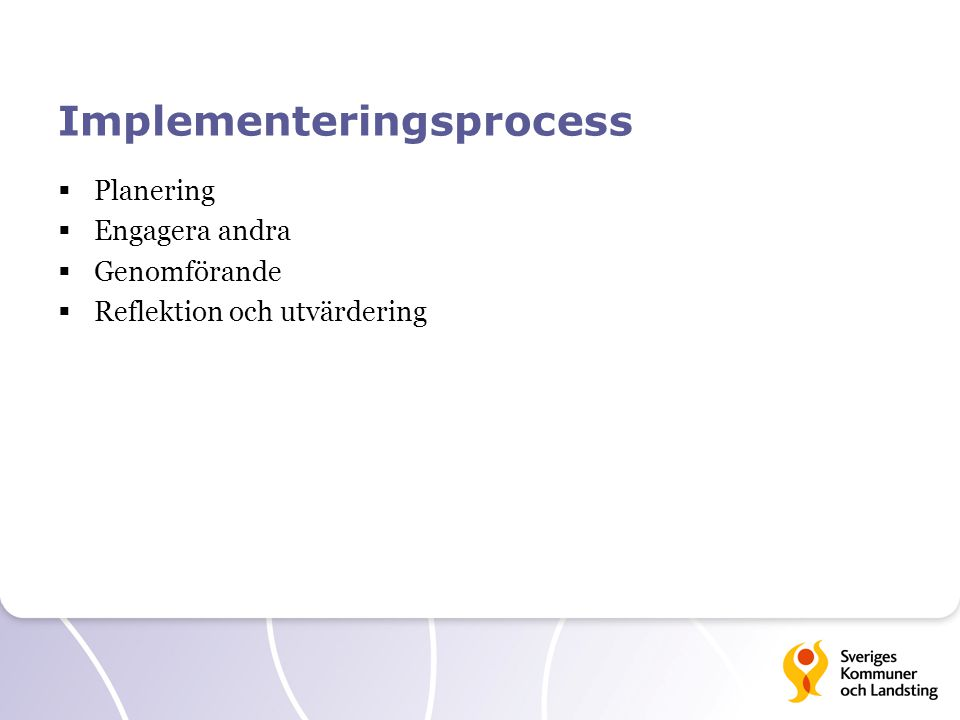 Implementeringsprocess