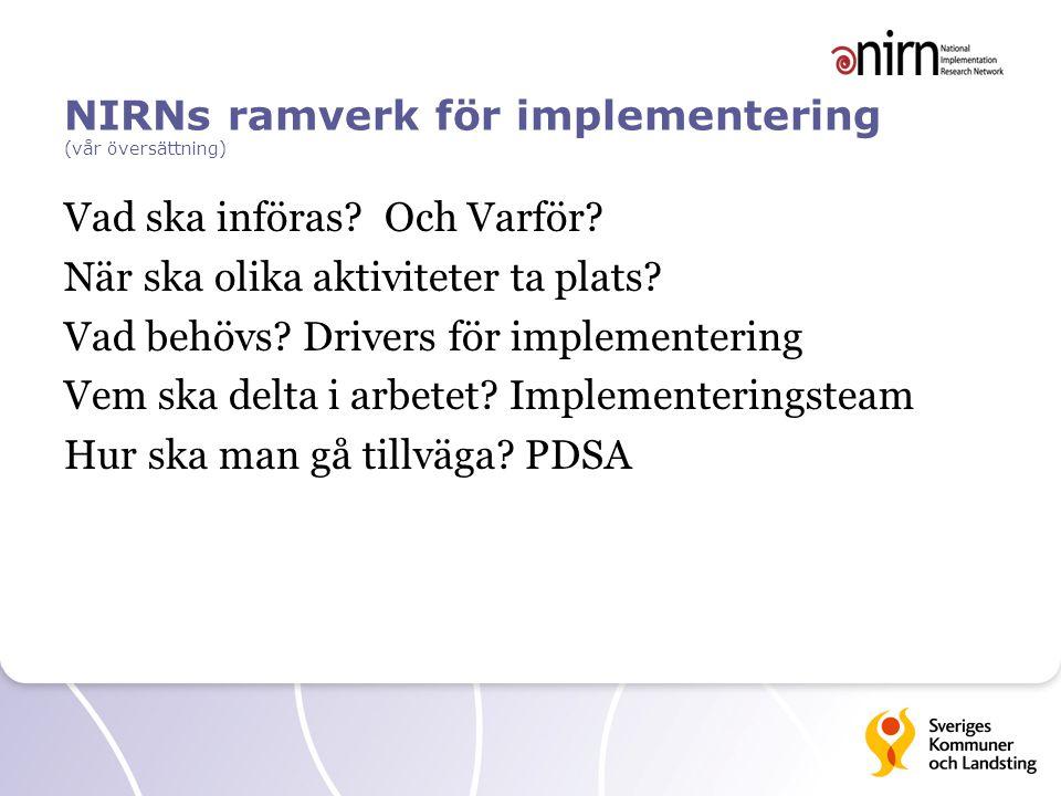 NIRNs ramverk för implementering (vår översättning)
