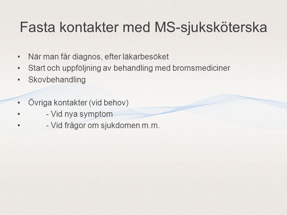 Fasta kontakter med MS-sjuksköterska