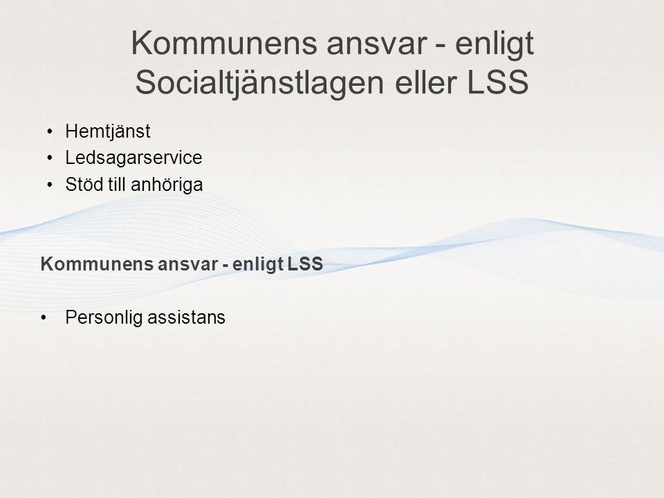 Kommunens ansvar - enligt Socialtjänstlagen eller LSS