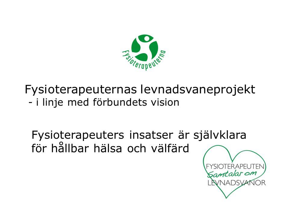 Fysioterapeuternas levnadsvaneprojekt - i linje med förbundets vision