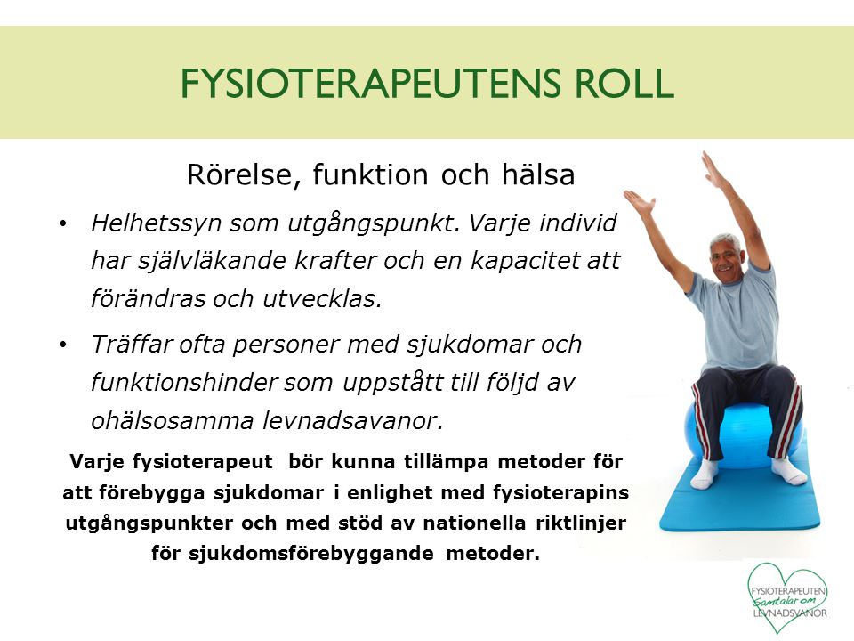 FYSIOTERAPEUTENS ROLL