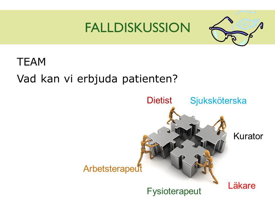 FALLDISKUSSION TEAM Vad kan vi erbjuda patienten Dietist