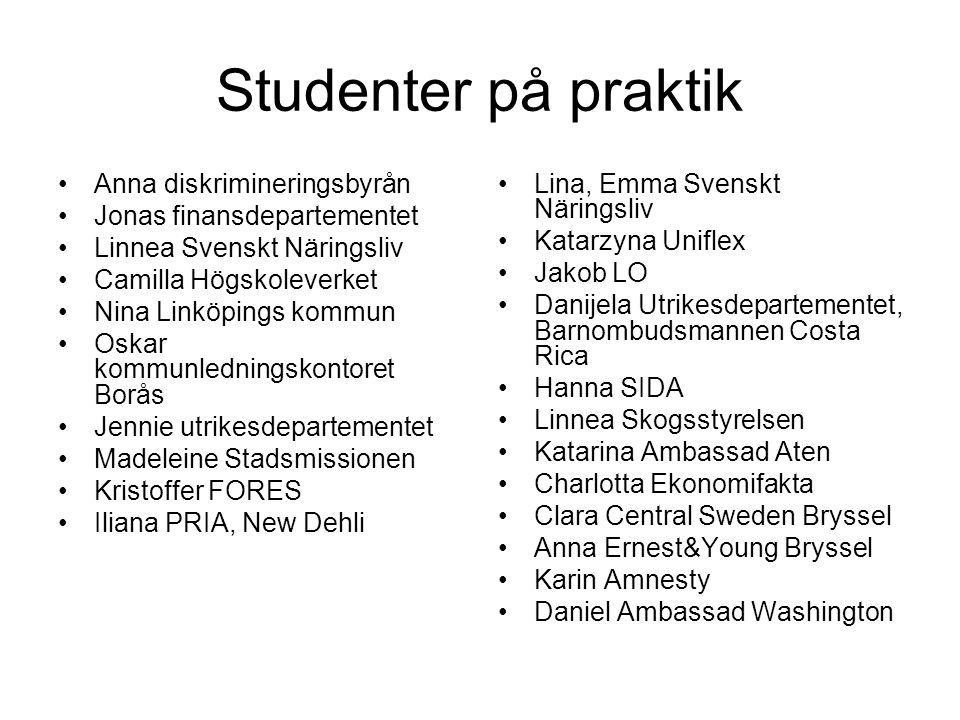 Studenter på praktik Anna diskrimineringsbyrån