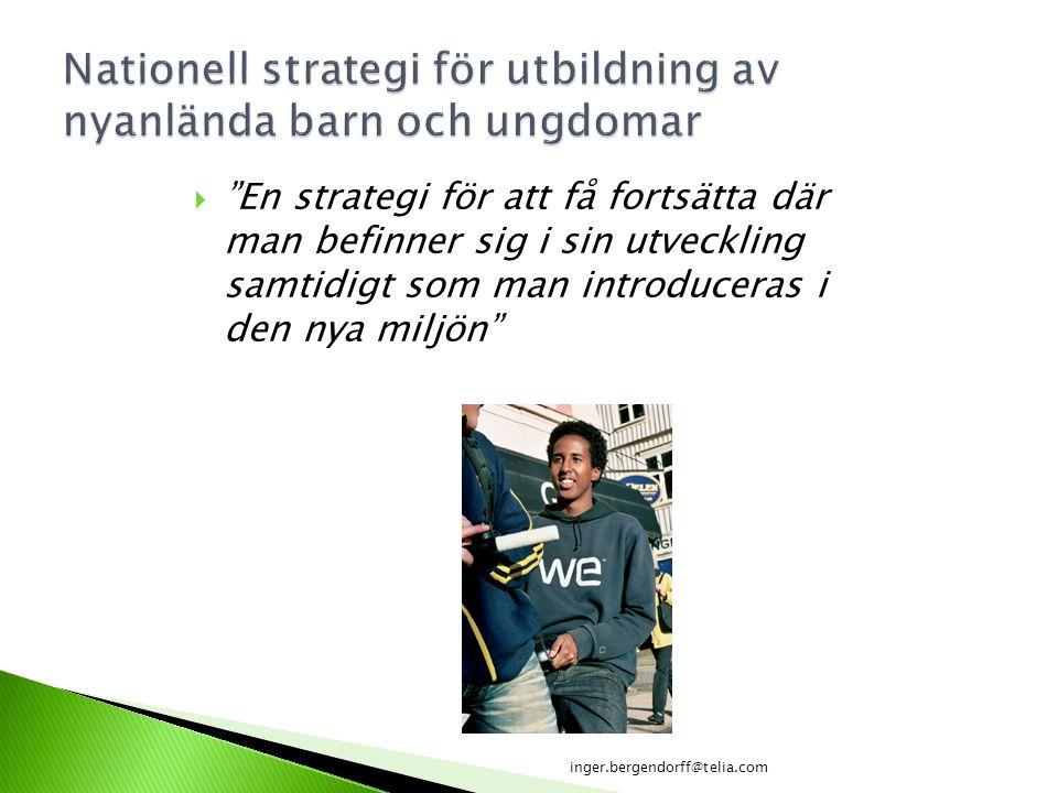 Nationell strategi för utbildning av nyanlända barn och ungdomar