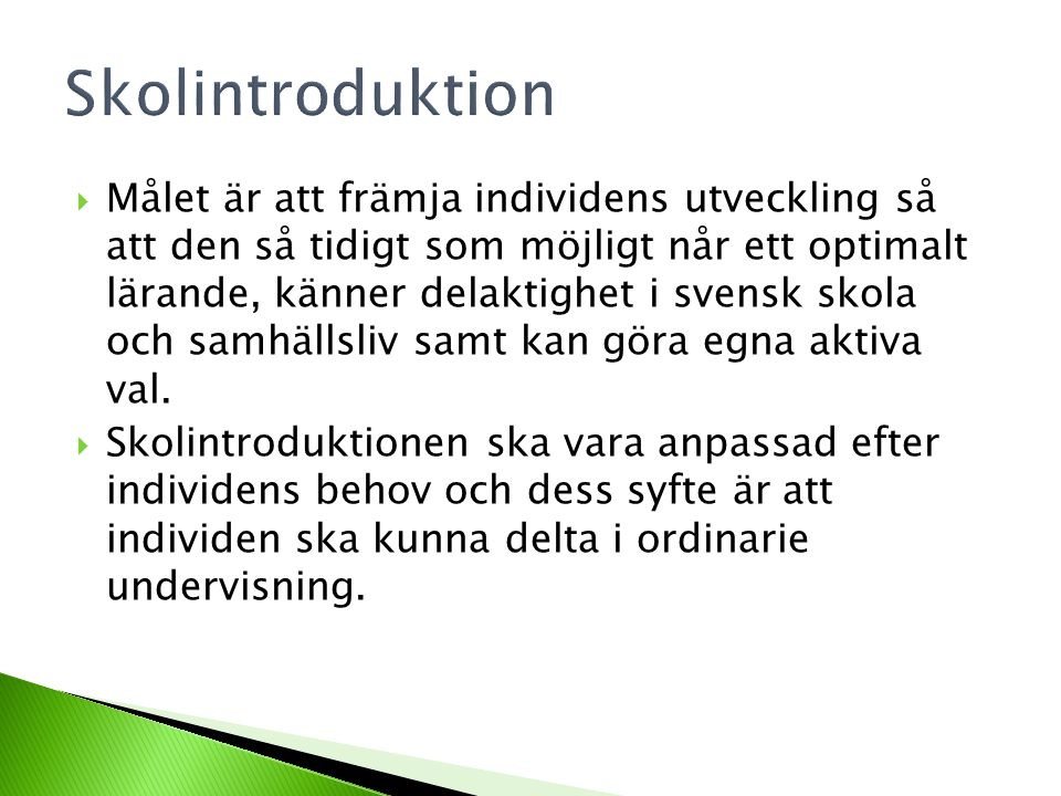 Skolintroduktion