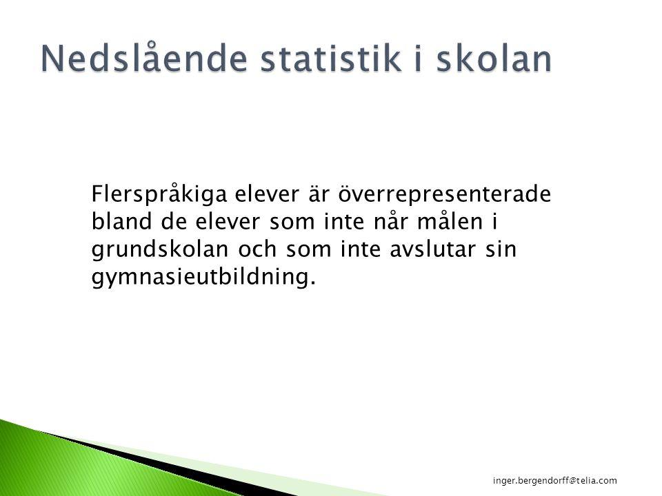 Nedslående statistik i skolan