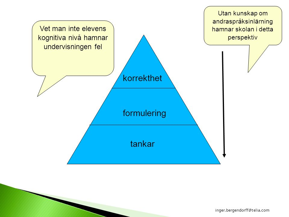 korrekthet formulering tankar