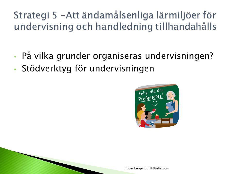 Strategi 5 –Att ändamålsenliga lärmiljöer för undervisning och handledning tillhandahålls