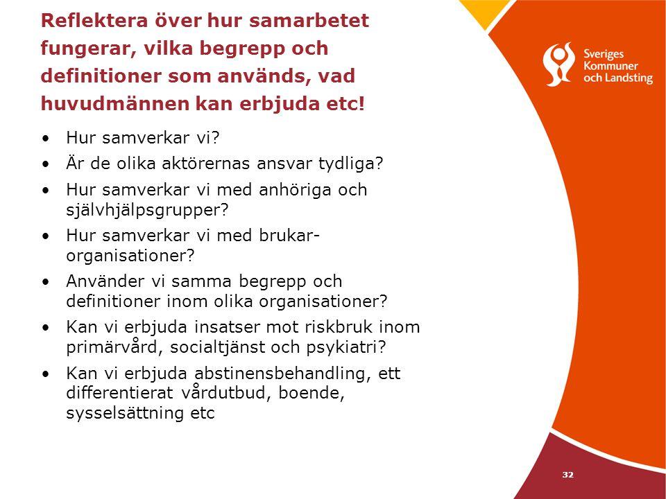 Reflektera över hur samarbetet fungerar, vilka begrepp och definitioner som används, vad huvudmännen kan erbjuda etc!