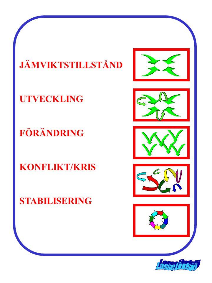 JÄMVIKTSTILLSTÅND UTVECKLING FÖRÄNDRING KONFLIKT/KRIS STABILISERING