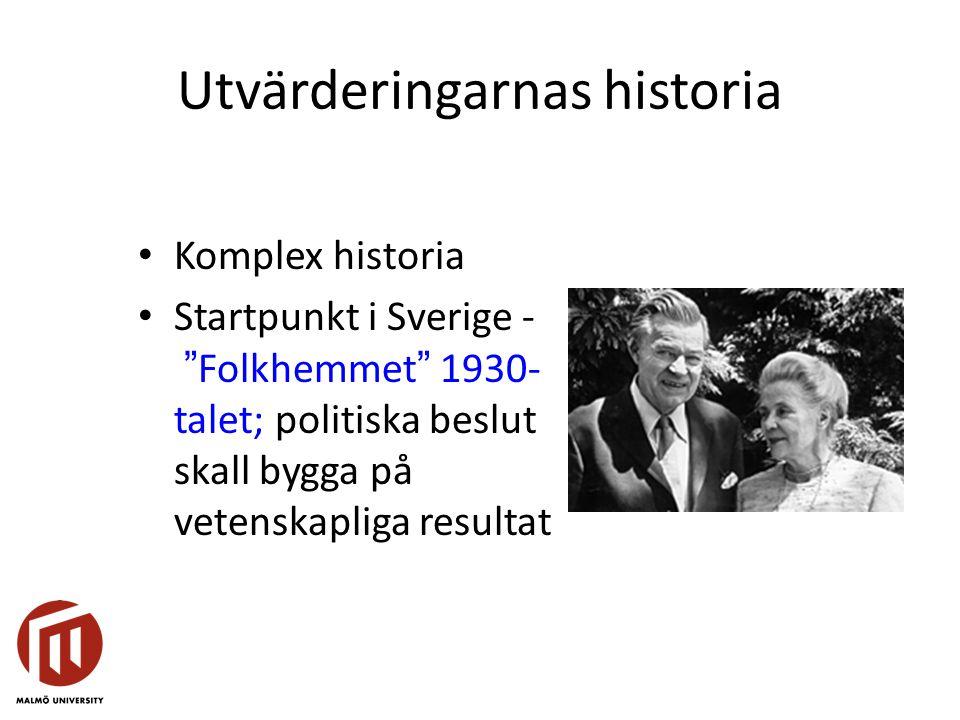 Utvärderingarnas historia