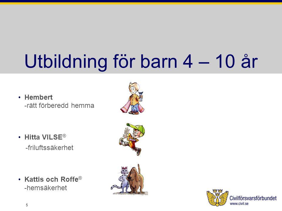 Utbildning för barn 4 – 10 år