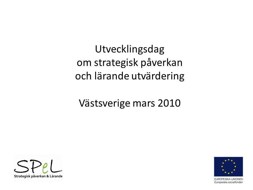 om strategisk påverkan och lärande utvärdering Västsverige mars 2010