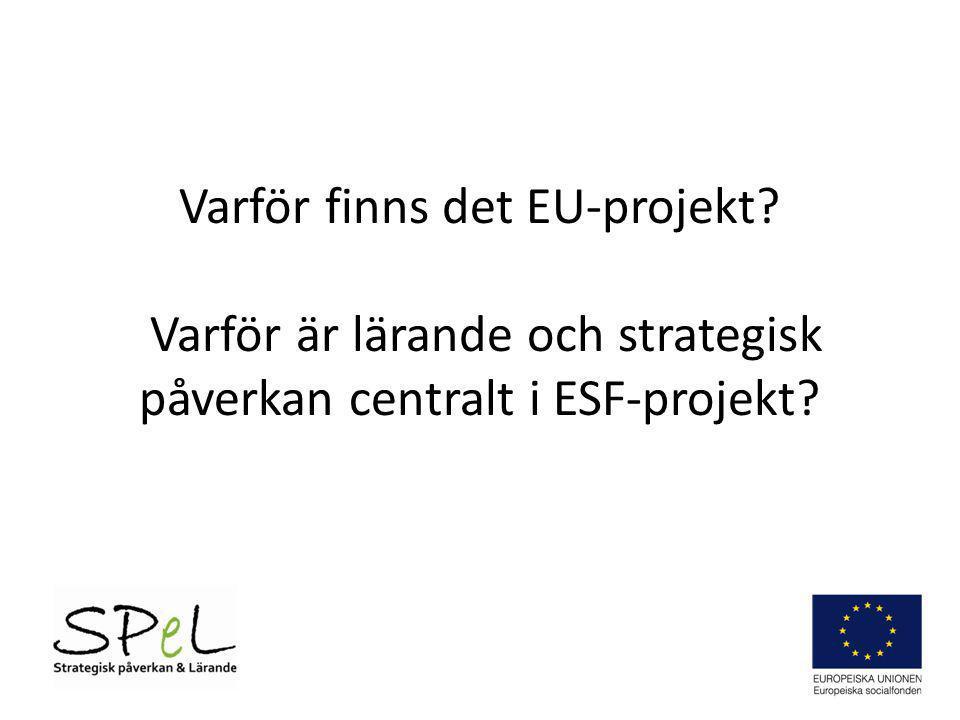 Varför finns det EU-projekt