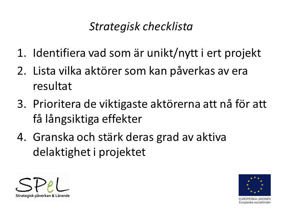 Strategisk checklista
