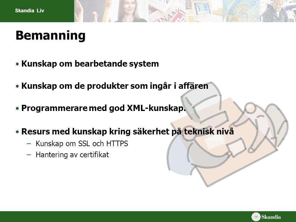 Bemanning Kunskap om bearbetande system