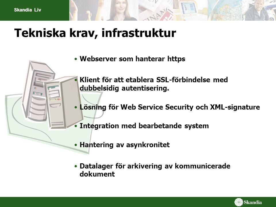 Tekniska krav, infrastruktur