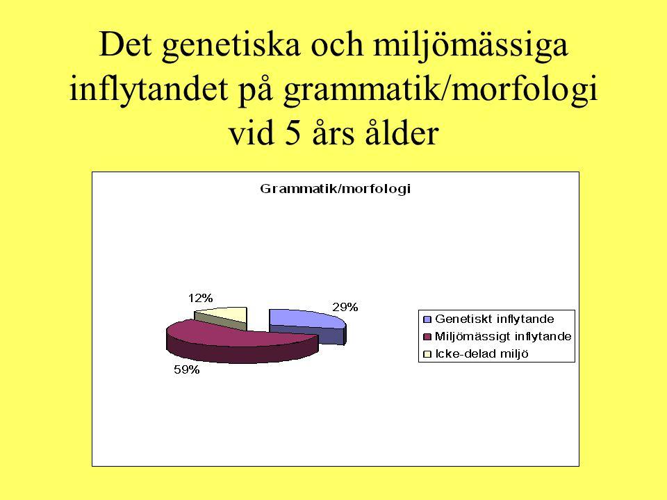 Det genetiska och miljömässiga inflytandet på grammatik/morfologi vid 5 års ålder