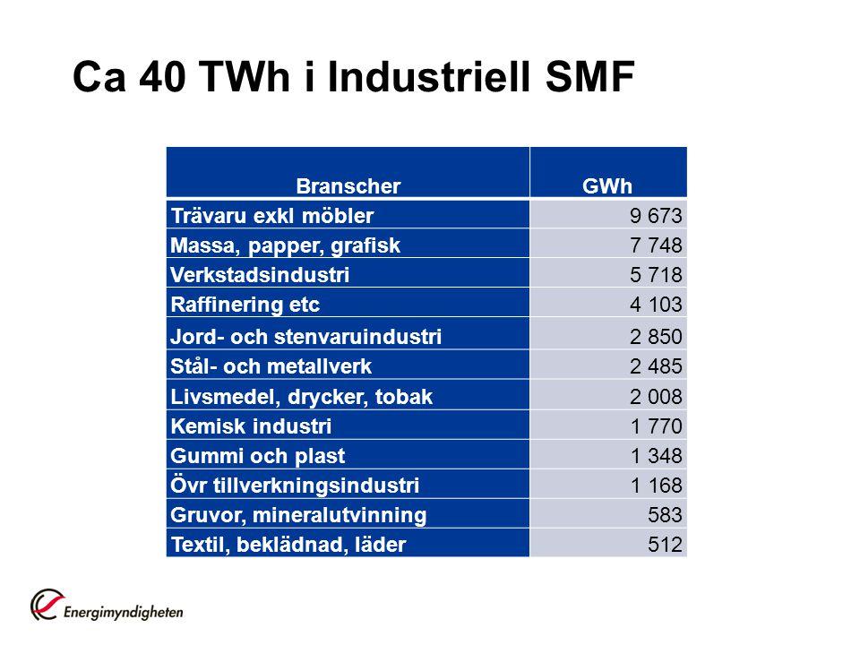 Ca 40 TWh i Industriell SMF
